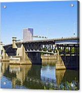 Morrison Bridge Portland Oregon Acrylic Print