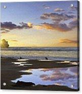 Morro Rock Reflection Acrylic Print