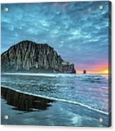 Morro Sunset Acrylic Print