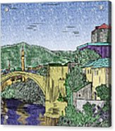 Morstar Bridge Colored Acrylic Print