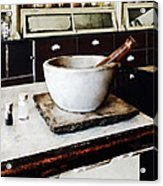 Mortar And Pestle In Apothecary Acrylic Print