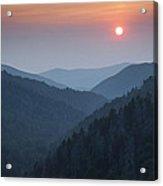 Morton Overlook Sunset Acrylic Print