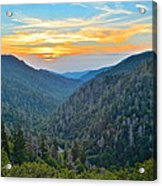 Mortons Overlook Smoky Mountain Sunset Acrylic Print