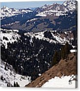 Morzine And Les Gets Panorama Acrylic Print