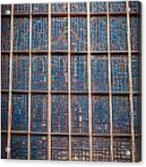 Mosaic Alamo In Glass Acrylic Print