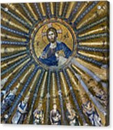 Mosaic Of Christ Pantocrator Acrylic Print by Ayhan Altun