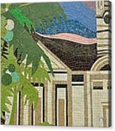 Mosaic Of Church With Palm Tree Acrylic Print