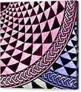 Mosaic Quarter Circle Bottom Right  Acrylic Print