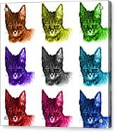 Mosaic Savannah Cat - 5462 F - M - Wb Acrylic Print