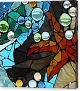 Mosaic Stained Glass - Low Tide Acrylic Print