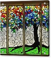 Mosaic Stained Glass - Roots Acrylic Print