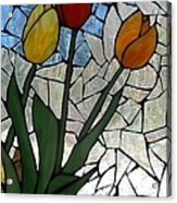 Mosaic Stained Glass - Spring Shower Acrylic Print