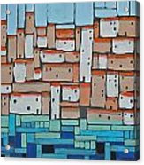 Mosaic Village 2 Acrylic Print