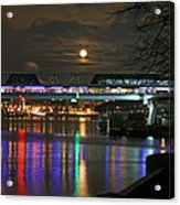 Moscow At Night In Winter Acrylic Print