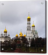 Moscow Kremlin Cathedrals - Square Acrylic Print