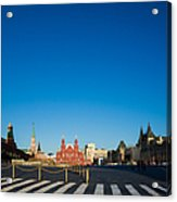 Moscow Red Square From South-east To North-west - Square Acrylic Print