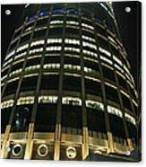 Moscow Skyscraper Night Acrylic Print