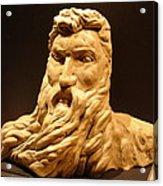 Moses Michelangelo  Acrylic Print by Joseph Hawkins