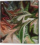 Mosiac Leaves Acrylic Print