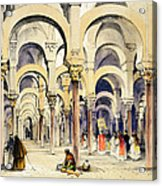 Mosque At Cordoba, From Sketches Acrylic Print