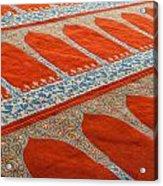 Mosque Carpet Acrylic Print