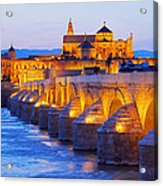 Mosque-cathedral And The Roman Bridge In Cordoba Acrylic Print