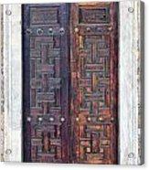 Mosque Doors 01 Acrylic Print