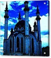 Mosque In Blue Colors Acrylic Print