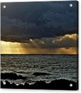 Moss Beach Sunset Storm Acrylic Print by Elery Oxford