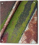 Moss Green-raw Steel Acrylic Print