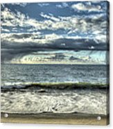 Moss Landing In The Clouds Acrylic Print