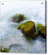 Mossy Rocks Acrylic Print