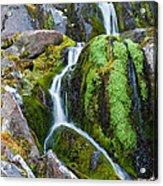 Mossy Waterfall At Snow Lake Acrylic Print