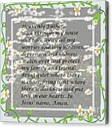 Most Powerful Prayer With Daisies Acrylic Print