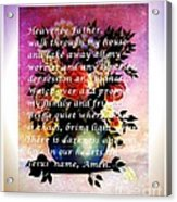 Most Powerful Prayer With Flowers In A Vase Acrylic Print