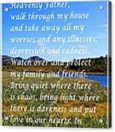 Most Powerful Prayer With Irises Acrylic Print