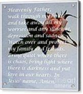 Most Powerful Prayer With Rosebud Acrylic Print