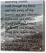 Most Powerful Prayer With Seascape Acrylic Print