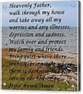 Most Powerful Prayer With Seashore Acrylic Print