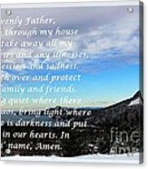 Most Powerful Prayer With Winter Scene Acrylic Print