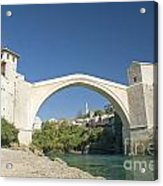 Mostar Bridge In Bosnia Acrylic Print