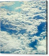 Mostly Cloudy Acrylic Print