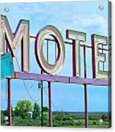 Motel Sign - Arrow Acrylic Print