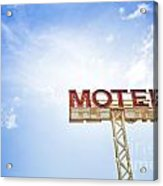 Motel Sign Acrylic Print