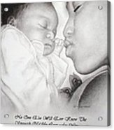 Mother And Child Acrylic Print by Melodye Whitaker