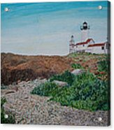 Mother Ann And Eastern Point Light Acrylic Print
