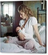 Mother Breastfeeding Acrylic Print