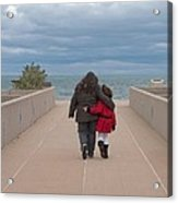Mother Daughter Moment Acrylic Print