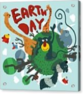 Mother Earth Day. Vector Illustration Acrylic Print