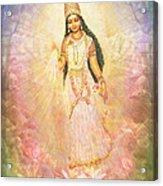 Mother Goddess In Rainbow Colours Acrylic Print
